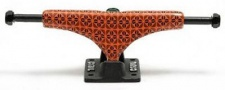 Crail Skateboard Achsen Set 133 LOW Pattern Pavement orange/schwarz
