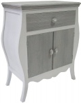 Casa Padrino Landhausstil Kommode mit 2 Türen und Schublade Antik Weiß / Grau 65 x 34 x H. 76 cm - Landhausstil Möbel