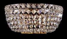 Casa Padrino Barock Kristall Decken Kronleuchter Gold 25, 5 x H 12, 5 cm Antik Stil - Möbel Lüster Leuchter Hängeleuchte Hängelampe