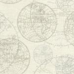 Casa Padrino Luxus Papiertapete Weltkugeln Creme - 10, 05 x 0, 53 m - Edle Mustertapete