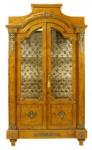 Casa Padrino Empire Vitrine Vogelaugenahorn 195 x 110 cm - Handgefertigt aus Massivholz - Barock Vitrinenschrank