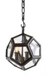 Casa Padrino Luxus Laterne - Luxus Rotguss Hängeleuchte Durchmesser 30 x H 32 cm