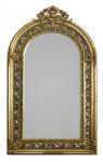 Casa Padrino Barock Spiegel Halbrund Gold 190 x 110 cm - Prunkvoll