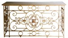 Casa Padrino Luxus Barock Konsole Weiß / Antik Gold 172 x 51 x H. 95 cm - Barockmöbel