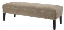 Casa Padrino Luxus Sitzbank Greige 140 x 50 x H. 45 cm - Luxus Qualität