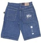 2Pac Skateboard Herren Jeans Shorts Mid Blue