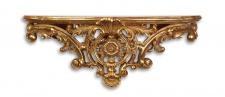 Casa Padrino Designer Barock Wandkonsole Antik Gold 46 x 13, 3 x H.17, 7 - Hotel Möbel
