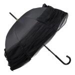Chantal Thomass Designer Damen Luxus Regenschirm mit großer Tüll-Schleife, schwarz - Stockschirm - sehr Elegant - Made in Paris