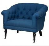 Luxus Barock Sessel Paris Blau aus der Luxus Kollektion von Casa Padrino - Hotel Cafe Restaurant Möbel Einrichtung
