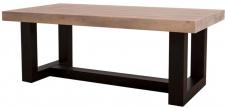 Casa Padrino Landhausstil Couchtisch mit Eichenholz Tischplatte 120 x 60 x H. 45 cm - Wohnzimmermöbel