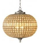 Casa Padrino Luxus Kronleuchter - Luxus Hängeleuchte Nickel Durchmesser 52 x H 52 cm