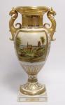 Casa Padrino Barock Porzellan Vase mit 2 Griffen H. 55 cm - Edel & Prunkvoll