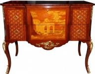 Casa Padrino Barock Luxus Kommode Braun/Gold aus massivem Eichenholz B 108 cm, H 88, 5 cm, T 58 cm - Barock Möbel