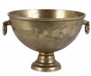 Massiver Tisch Weinkühler / Sektkühler in Bronze 53x46x33 cm aus dem Hause Casa Padrino - Antik Look