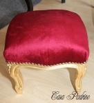 Casa Padrino Barock Fußhocker Bordeaux Rot / Gold - Antik Stil Möbel - Hocker