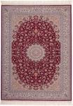 Casa Padrino Luxus Teppich Rot - Verschiedene Größen - Gemusterter Wohnzimmer Teppich mit Fransen - Luxus Qualität