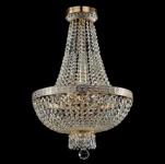 Casa Padrino Barock Kristall Decken Kronleuchter Weiß Gold 40 x H 61 cm Antik Stil - Möbel Lüster Leuchter Deckenleuchte Hängelampe