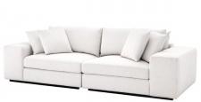 Casa Padrino Luxus Wohnzimmer Sofa Weiß / Schwarz 280 x 120 x H. 90 cm - Luxus Möbel