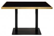 Casa Padrino Luxus Esstisch Schwarz / Gold 110 x 70 x H. 76 cm - Esszimmermöbel