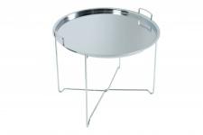 Casa Padrino Couchtisch Silber Klappbar - Tablett B.56 cm x H.48 cm x T.56 cm - Wohnzimmer Salon Tisch
