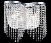 Casa Padrino Barock Kristall Wandleuchte Nickel 40, 5 x H 35 cm Antik Stil - Wandlampe Wand Beleuchtung