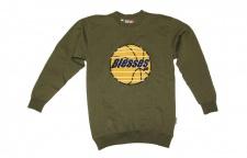 BLESSES Skateboard Sweater Olive - Hip Hop Style