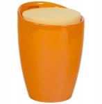 Casa Padrino Designer Hocker Orange mit Sitzpolster und Stauraum unter dem Sitz