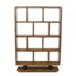 Designer Bücherregal im Barockstil Model Mahagoni Höhe: 160cm, Breite: 110cm, Tiefe: 30 cm - Regalschrank - Bücherschrank