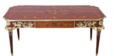 Casa Padrino Luxus Barock Schreibtisch Mahagoni Sekretär 120 cm - Antik Stil