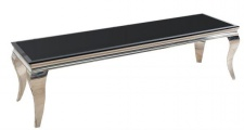 Casa Padrino Designer TV Board Schwarz / Silber 160 cm x 45 cm x H. 45 cm - Modern Barock