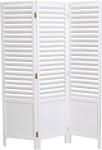 Casa Padrino Landhausstil Raumteiler Weiß 121 x 3 x H. 160 cm - Faltbarer Raumteiler im Landhausstil