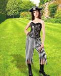 Rachel Wall Striped Black/White - Medieval Pirat