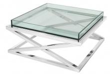 Casa Padrino Designer Couchtisch Silber 100 x 100 x H. 46, 5 cm - Luxus Hotel Möbel