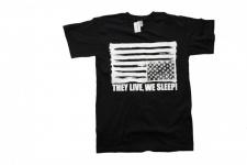 They Live We Sleep Skateboard T-Shirt Black/white