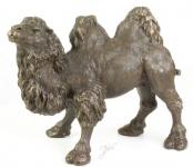 Casa Padrino Luxus Bronzefigur Kamel Bronze / Gold 44 x H. 34 cm - Edle Bronze Skulptur