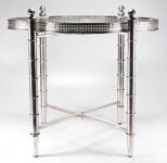Casa Padrino Beistelltisch Silber 60 x 60 x H. 60 cm - Luxus Kollektion