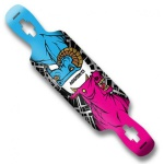 Koston Longboard Drop Through Carving Deck Muertos 41.0 x 9.5 inch LD015-1 inkl. Black Griptape