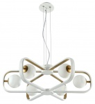 Casa Padrino Luxus Hängeleuchte Weiß / Gold Ø 65 x H. 20 cm - Luxus Kollektion