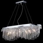 Casa Padrino Barock Decken Kristall Kronleuchter Nickel 93, 3 x H 68 cm Antik Stil - Möbel Lüster Leuchter Hängeleuchte Hängelampe