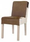 Casa Padrino Designer Esszimmer Stuhl ModEF 35 Kuhfell - Hotelmöbel- Echtes Fell - Holz Buche