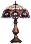 Casa Padrino Luxus Tiffany Tischlampe Bronze / Mehrfarbig Ø 41 x H. 61 cm - Hotel & Restaurant Deko