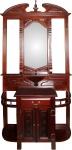 Casa Padrino Barock Luxus Garderoben Schrank Braun - Garderobe 98 x 34 x 220 cm - Art Deco