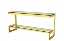 Casa Padrino Luxus Konsole Gold 160 x 45 x H. 76 cm - Konsolen Tisch Möbel