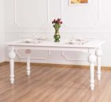 Casa Padrino Landhausstil Esstisch Weiß 180 x 90 x H. 78 cm - Esszimmermöbel im Landhausstil