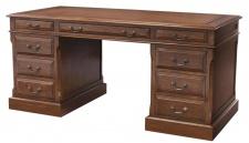 Casa Padrino Luxus Schreibtisch Dunkelbraun 170 x 80 x H. 78 cm - Möbel im englischen Kolonialstil