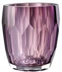 Casa Padrino Luxus Deko Glas Vase Lila Ø 12 x H. 14 cm - Luxus Qualität
