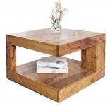 Casa Padrino Designer Massivholz Couchtisch Natur 60 x 60 x H.40cm - Salon Wohnzimmer Tisch