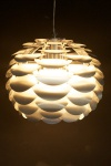 Designer Pendelleuchte aus gebürstetem Aluminium, Silber, Leuchte Lampe