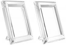 Casa Padrino Tisch-Bilderrahmen Set 16 x 2, 5 x H. 21, 5 cm - Luxus Kristallglas Deko Accessoires