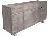 Casa Padrino Luxus Sideboard Grau B.170 x H.92 x T.45 - Fernsehschrank - Kommode - Handgefertigt aus massivem Akazienholz!